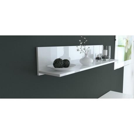 etag re murale laqu e blanche 97 5 cm pour etag res a 105 62. Black Bedroom Furniture Sets. Home Design Ideas