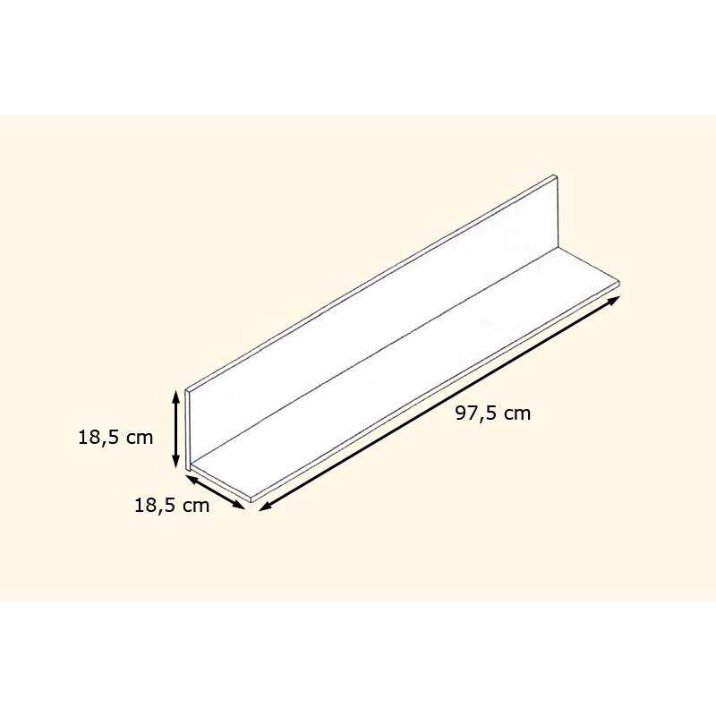 Etag re murale laqu e blanche 97 5 cm pour etag res a 105 62 - Etagere murale noire laquee ...