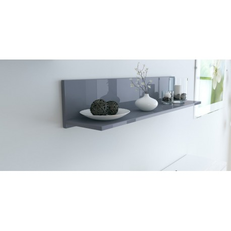 Etag re murale laqu e grise 97 5 cm pour etag res a 105 62 - Etagere pour separer une piece ...