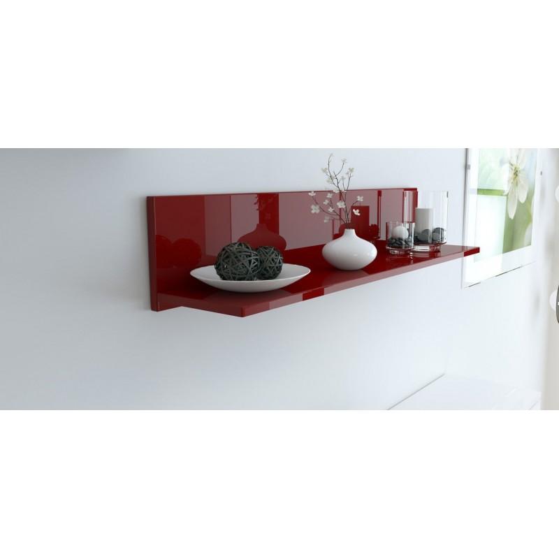 etag re murale laqu e bordeaux 97 5 cm pour etag res a 105 62. Black Bedroom Furniture Sets. Home Design Ideas