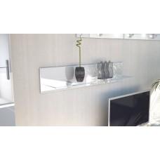 Etagère laquée blanche en bois et verre  98 cm avec led