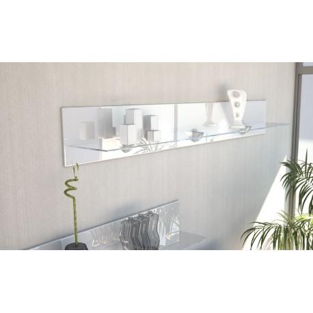 etag re design en bois et verre blanche avec led 146 cm. Black Bedroom Furniture Sets. Home Design Ideas