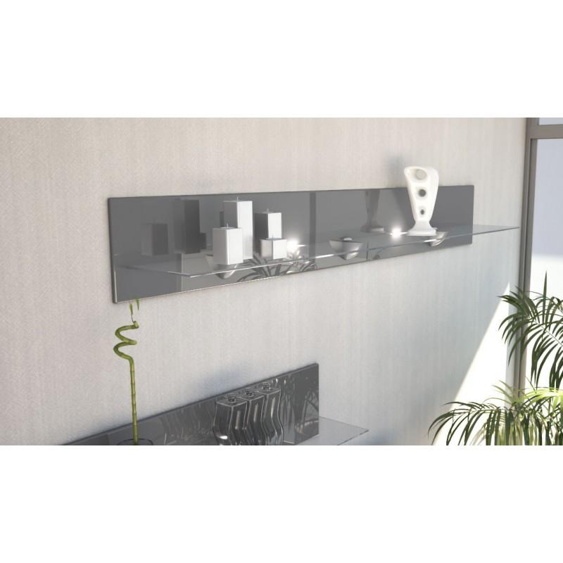 etag re design en bois et verre grise avec led 146 cm pour etag res. Black Bedroom Furniture Sets. Home Design Ideas