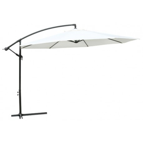 parasol d port 3 5 m blanc pied aluminium pour parasols a 149 99. Black Bedroom Furniture Sets. Home Design Ideas
