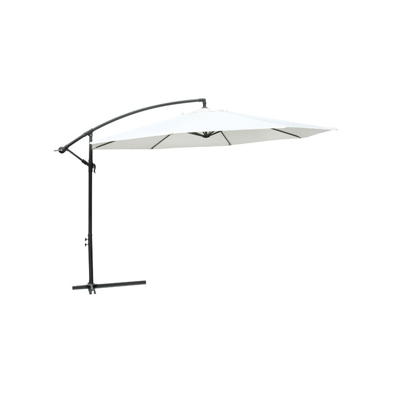 parasol d port 3 5 m blanc pied aluminium pour parasols a. Black Bedroom Furniture Sets. Home Design Ideas