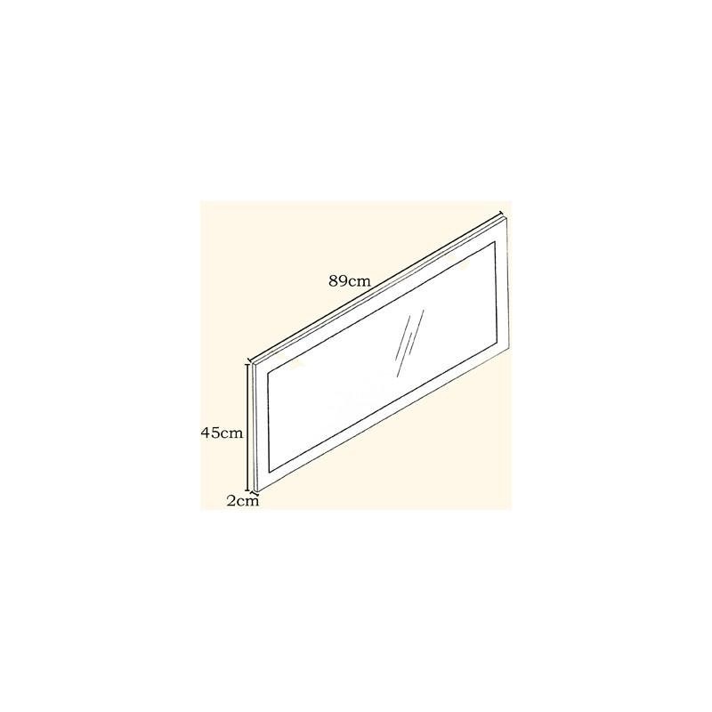 miroir haute brillance violet 89 cm pour miroirs design a. Black Bedroom Furniture Sets. Home Design Ideas