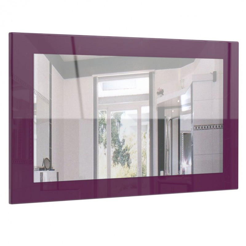 miroir haute brillance violet 89 cm pour miroirs design a 125 62. Black Bedroom Furniture Sets. Home Design Ideas
