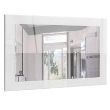 Miroir haute brillance blanc 89 cm