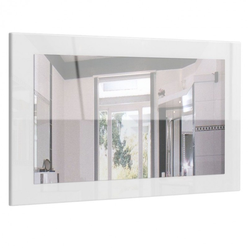 Miroir haute brillance blanc 89 cm pour miroirs design a for Miroir laque blanc brillant