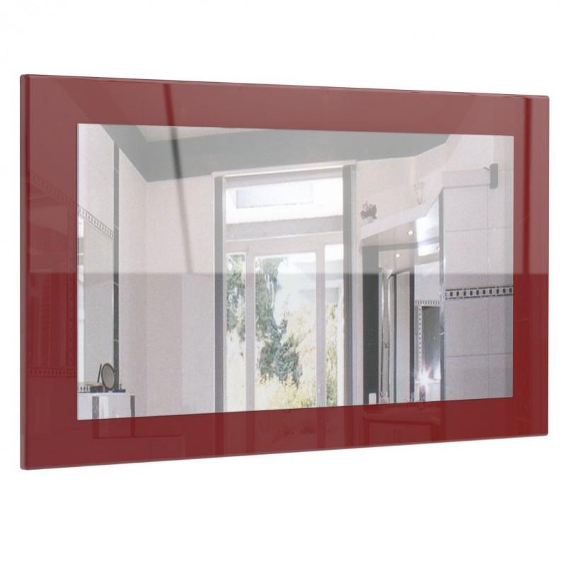 miroir laqu bordeaux 89 cm pour miroirs design a 125 62. Black Bedroom Furniture Sets. Home Design Ideas