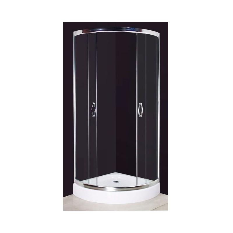 cabine de douche avec receveur arrondi 80x80 cm pour. Black Bedroom Furniture Sets. Home Design Ideas