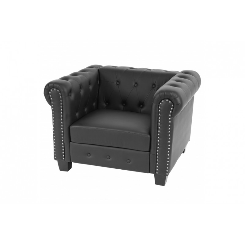 fauteuil confortable chesterfield noir. Black Bedroom Furniture Sets. Home Design Ideas