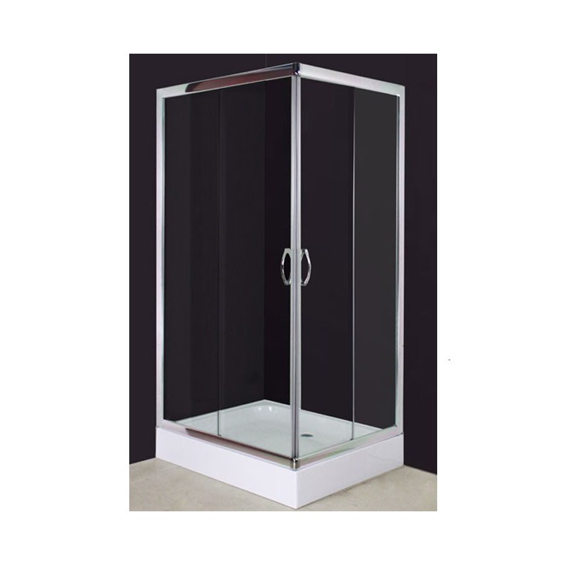cabine de douche avec receveur 100x80 cm. Black Bedroom Furniture Sets. Home Design Ideas