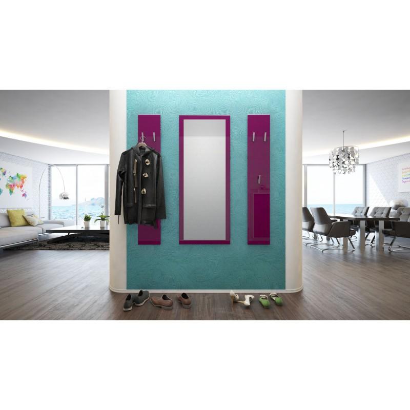 ensemble porte manteaux avec miroir laqu m re pour meubles d 39 entr. Black Bedroom Furniture Sets. Home Design Ideas