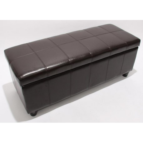banquette avec coffre de rangement marron 112 cm pour. Black Bedroom Furniture Sets. Home Design Ideas