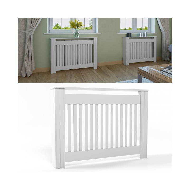 cache radiateur ctyle campagnard 112 cm blanc pas cher. Black Bedroom Furniture Sets. Home Design Ideas