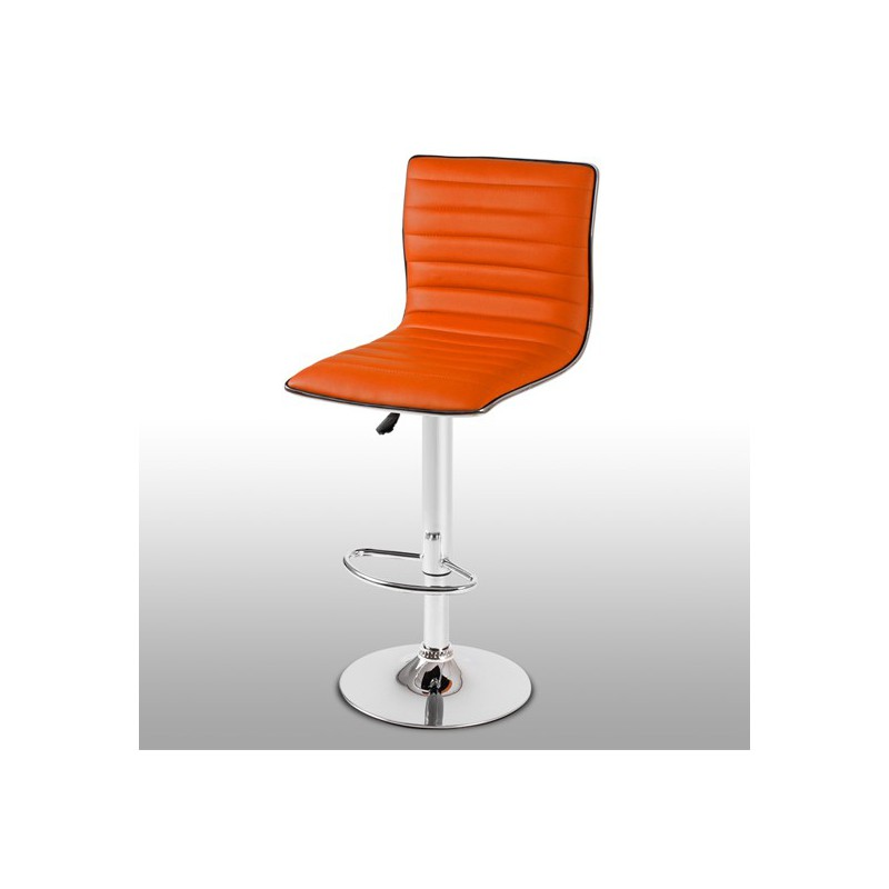 tabouret de bar l gant et confortable orange pour. Black Bedroom Furniture Sets. Home Design Ideas