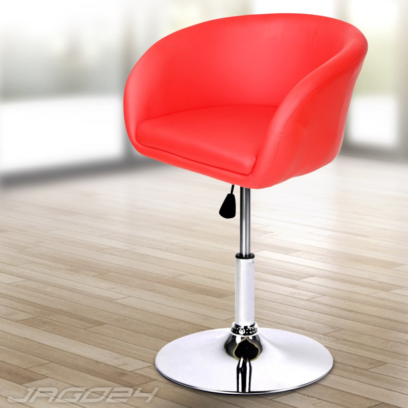 tabouret de bar avec dossier fauteuil style anglais rouge. Black Bedroom Furniture Sets. Home Design Ideas
