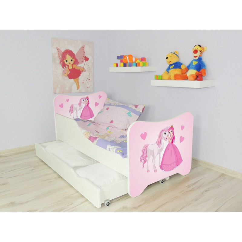lit enfant et b b 144 x 76 cm avec matelas et tiroirs. Black Bedroom Furniture Sets. Home Design Ideas