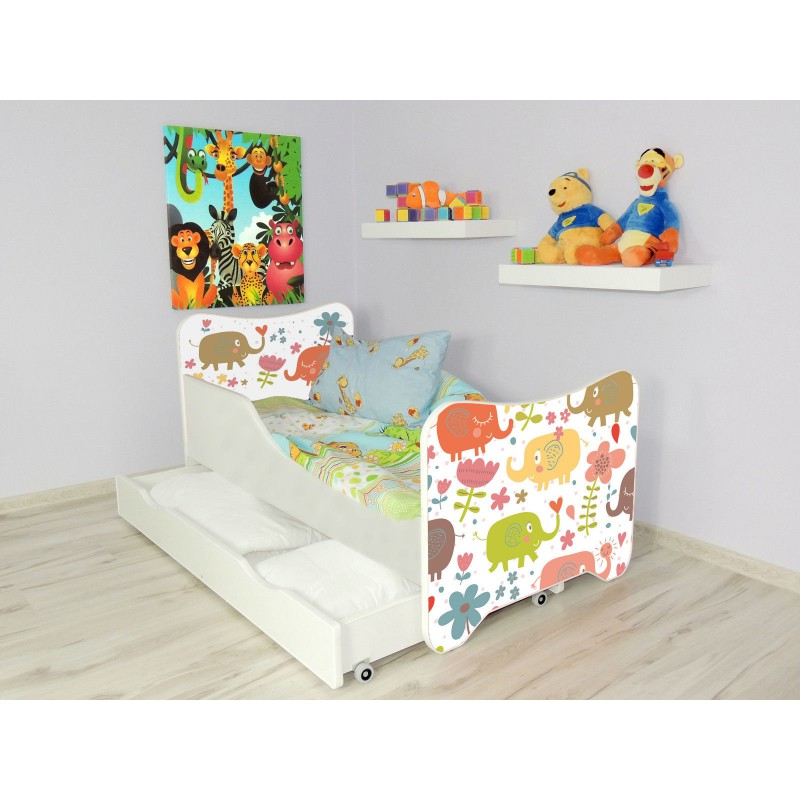 lit enfant et b b 160 x 80 cm avec matelas et tiroirs. Black Bedroom Furniture Sets. Home Design Ideas