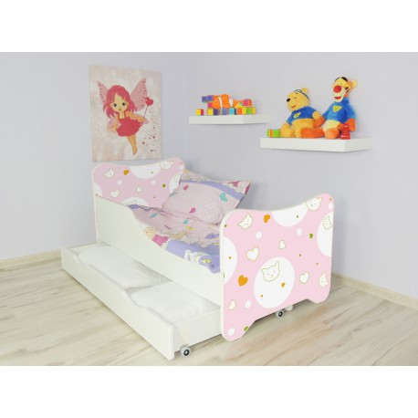 lit enfant et b b 160 x 80 cm avec matelas et tiroirs kitty pour l. Black Bedroom Furniture Sets. Home Design Ideas