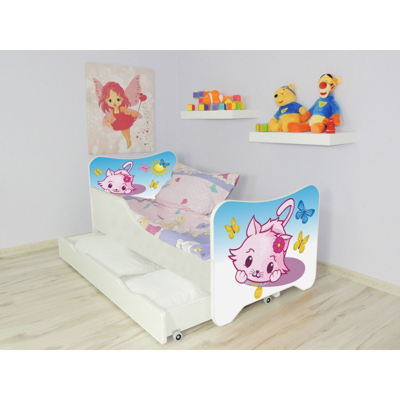 lit enfant et b b 160 x 80 cm avec matelas et tiroirs little kitty. Black Bedroom Furniture Sets. Home Design Ideas