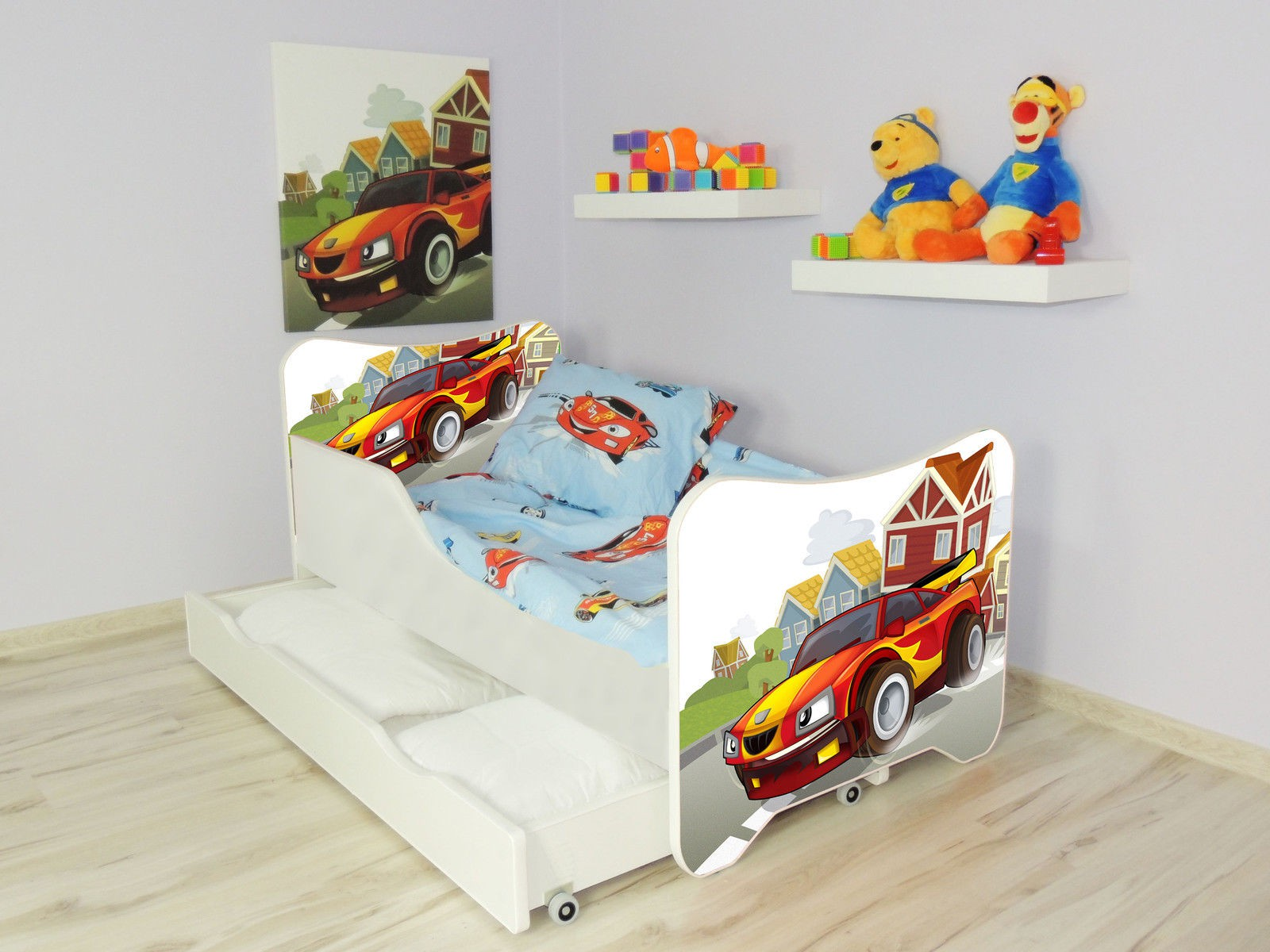 lit enfant et b b 160 x 80 cm avec matelas et tiroirs racing car p. Black Bedroom Furniture Sets. Home Design Ideas