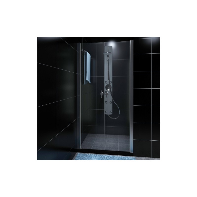 porte de douche battante verre s curit transparent 80 cm pour colo. Black Bedroom Furniture Sets. Home Design Ideas