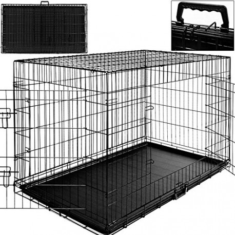 cage boite transport pour chien et animauxt pliable pour cages pour. Black Bedroom Furniture Sets. Home Design Ideas