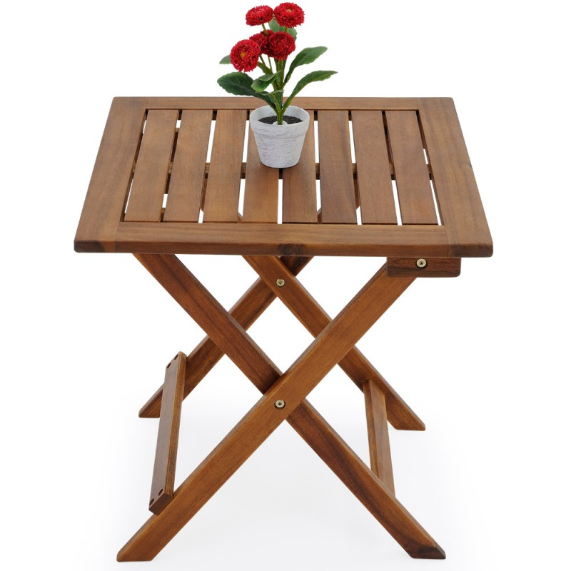 Table basse pliante en bois 46x46cm pliable pour tables - Table basse pliante ...