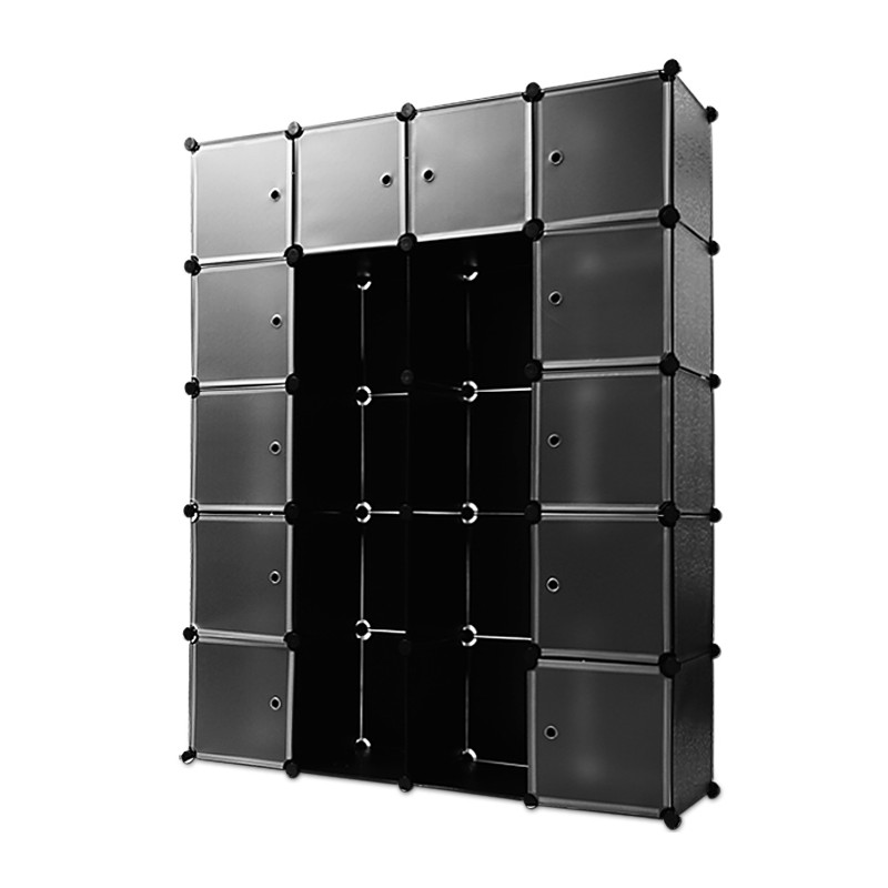 tag res armoire noire rangement plastique 20 casiers pour coffres. Black Bedroom Furniture Sets. Home Design Ideas
