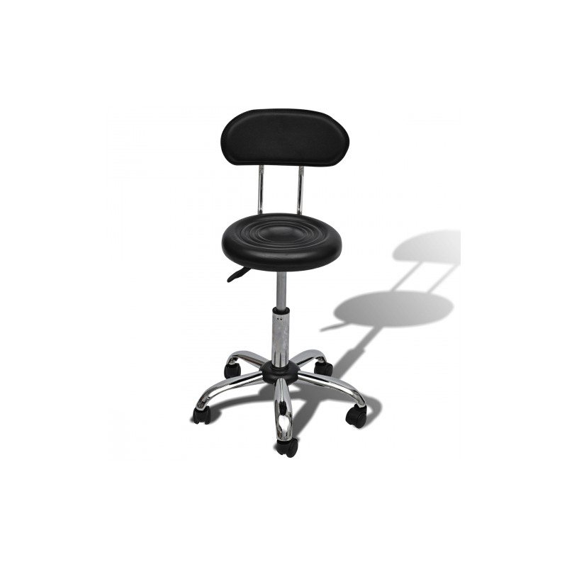 tabouret noir de bar salon spa avec dossier rond pour chaises tabou. Black Bedroom Furniture Sets. Home Design Ideas