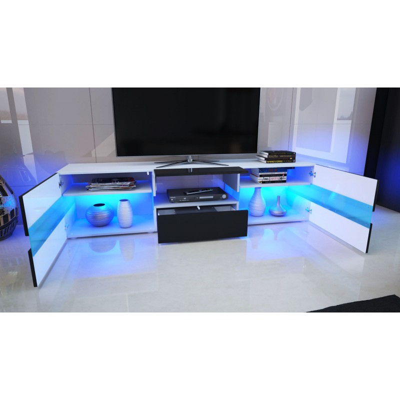 meuble tv led star ? artzein.com - Meuble Tv Design Blanc Laque Cavalli