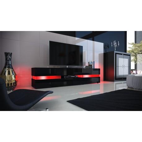 meuble tv design blanc et noir laque. Black Bedroom Furniture Sets. Home Design Ideas