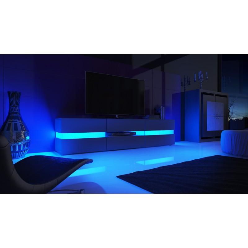 Meuble tv noir avec led ~ Solutions pour la décoration ...