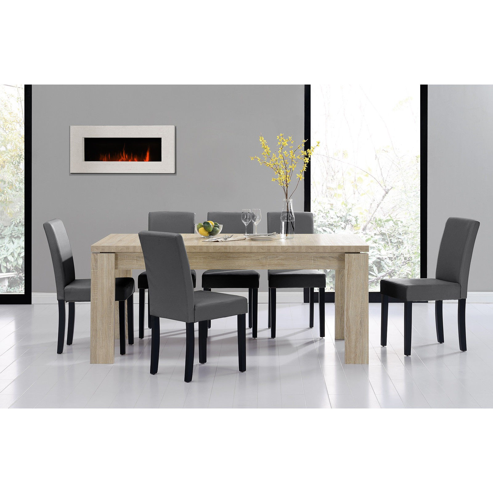 ensemble de 6 chaises avec table 180 cm pour tables a 640 01. Black Bedroom Furniture Sets. Home Design Ideas