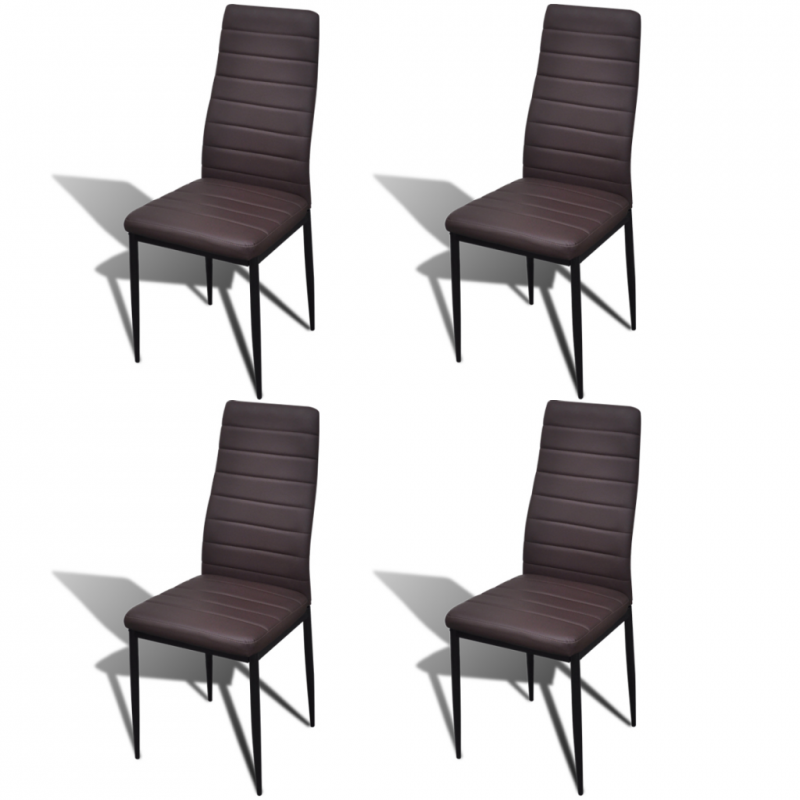 table en verre avec 4 chaises design brun pour toutes nos. Black Bedroom Furniture Sets. Home Design Ideas