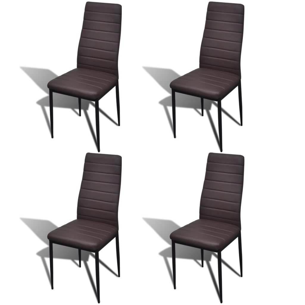 table en verre avec 4 chaises design brun pour toutes nos chaises a. Black Bedroom Furniture Sets. Home Design Ideas