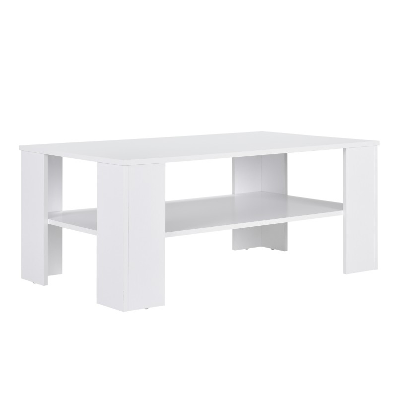 table basse 100 x 60 cm en mdf blanc pour tables basses a 182 31. Black Bedroom Furniture Sets. Home Design Ideas
