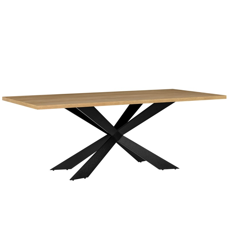 Table moderne 200 x 100 cm en fer et bois pour tables a - Pied de table original ...