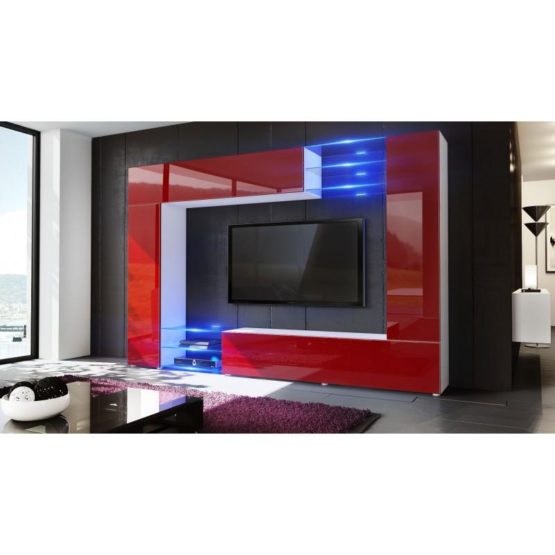 combinaison murale blanche et bordeaux corps mat et. Black Bedroom Furniture Sets. Home Design Ideas