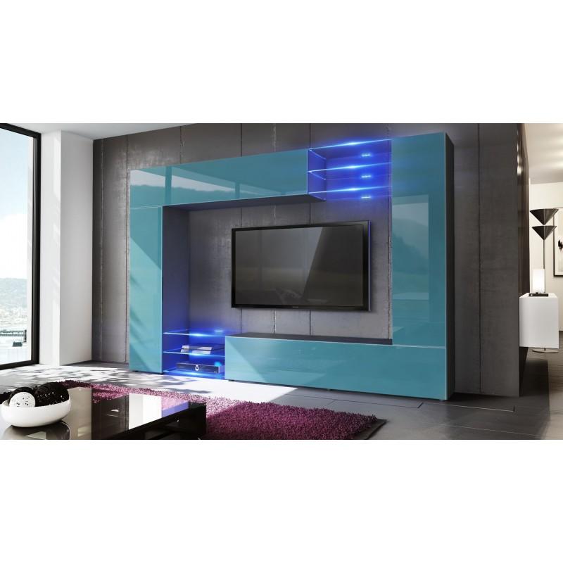 combinaison murale noire et turquoise sable corps mat et. Black Bedroom Furniture Sets. Home Design Ideas