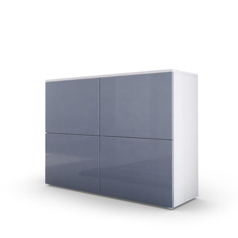 commode moderne blanche et grise fa ades laqu es et corps mat pour. Black Bedroom Furniture Sets. Home Design Ideas