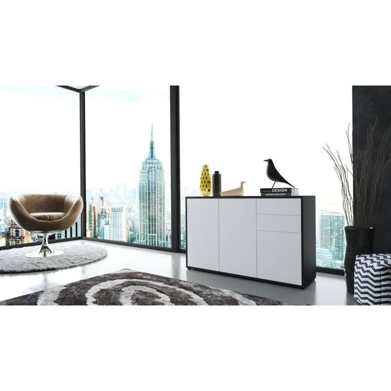 commode moderne int gralement laqu e corps noir fa ade. Black Bedroom Furniture Sets. Home Design Ideas