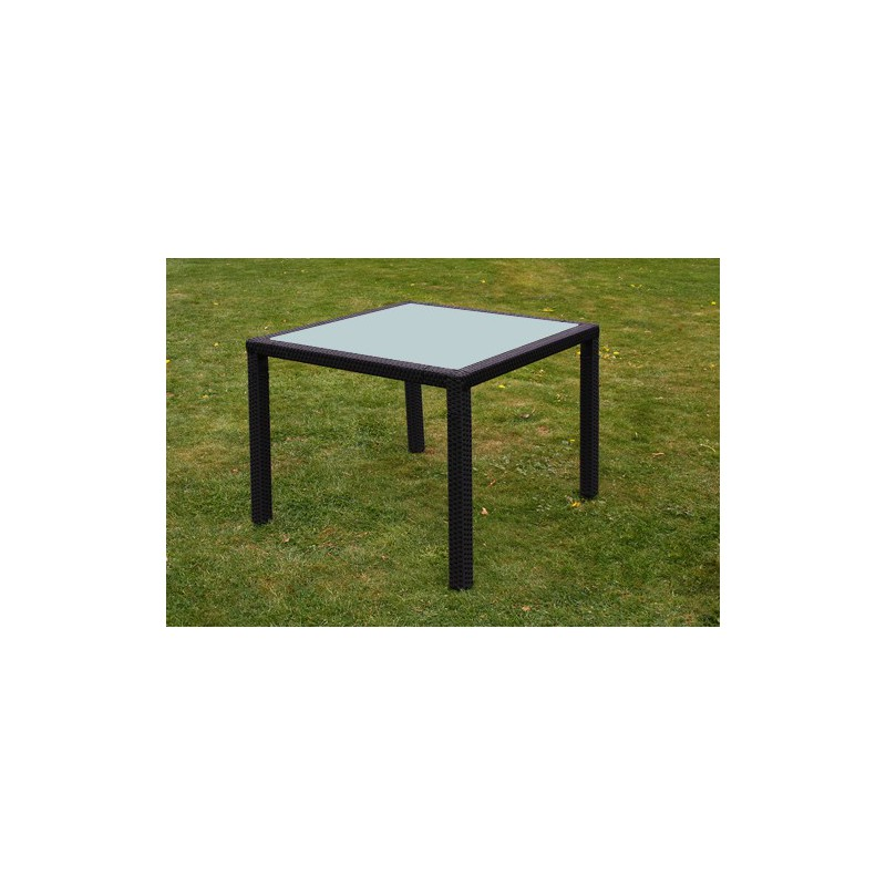 Table de jardin allibert super u les meilleures for Table en rotin et verre