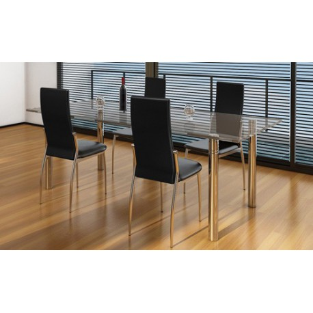 Ensemble de 4 chaises design