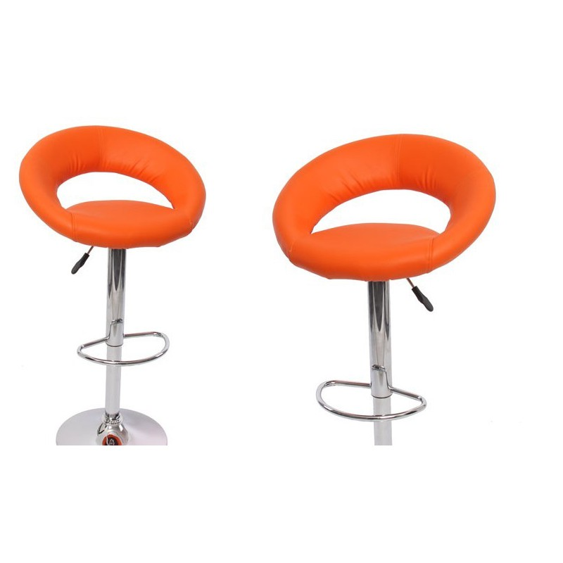 ensemble de 2 tabourets de bar design orange pour. Black Bedroom Furniture Sets. Home Design Ideas
