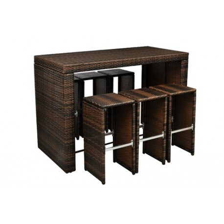 Table bar de jardin pas cher for Achat table bar