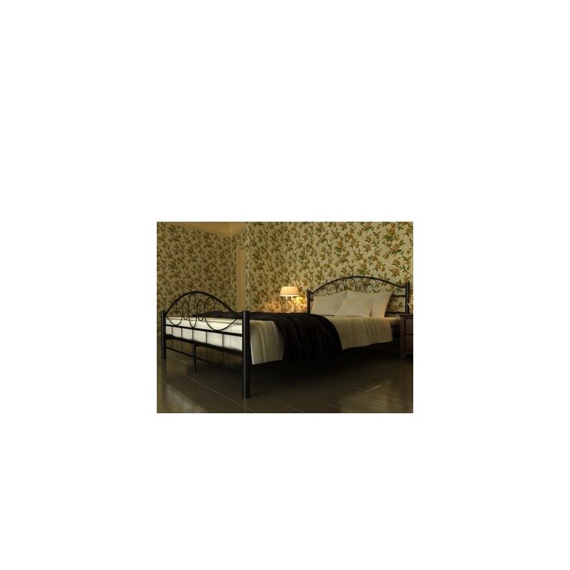 lit en m tal noir 140x200 cm pour lits a 188 54. Black Bedroom Furniture Sets. Home Design Ideas