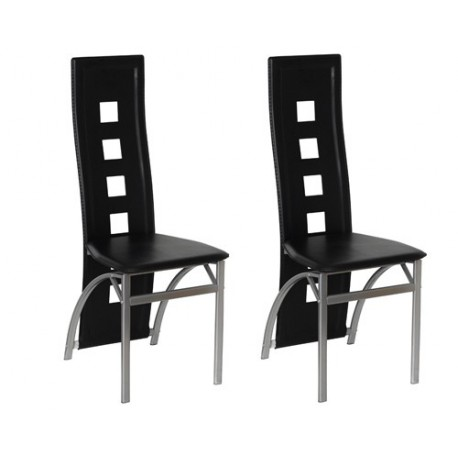 ensemble de 2 chaises design noir pour toutes nos chaises a 141 12. Black Bedroom Furniture Sets. Home Design Ideas